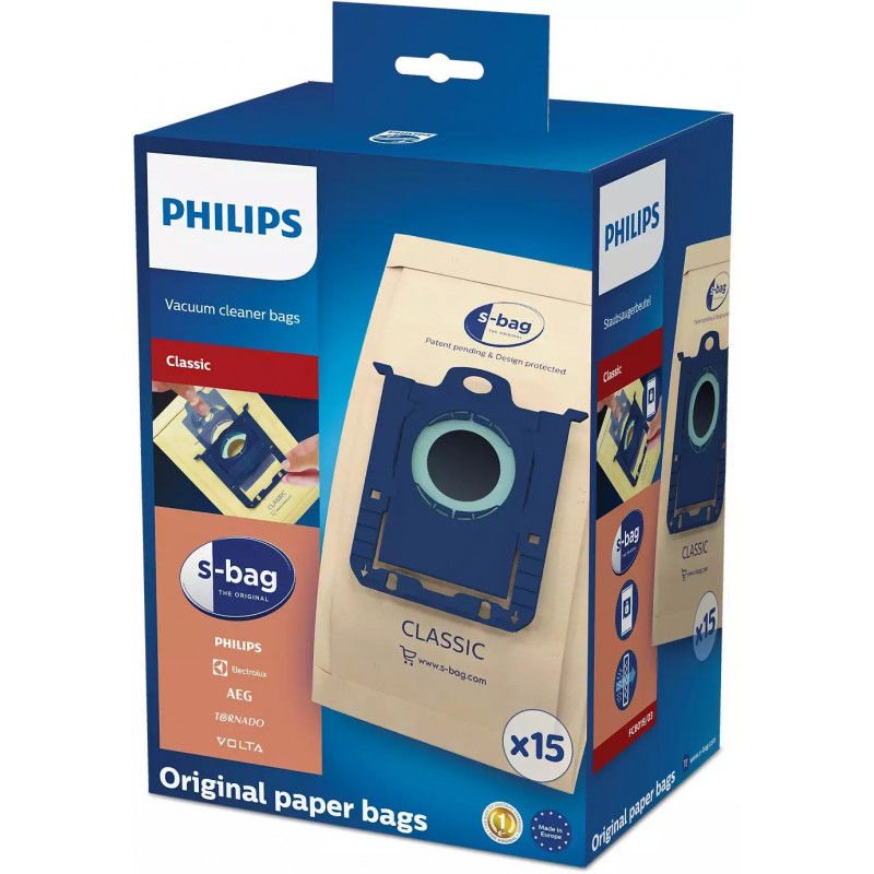 Saci Philips FC8019/03 s-bag Classic din hartie 15 buc Philips - 1