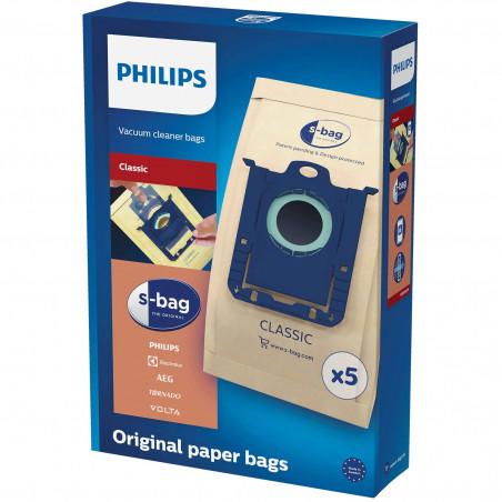Saci Philips FC8019/01 S-Bag Classic din hartie, 5 buc Philips - 1