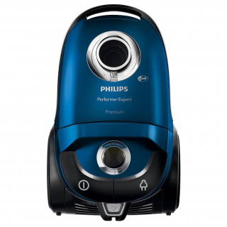 Aspirator cu sac Philips Performer Expert FC8727/09, 5 l, Tub telescopic metalic, 650 W, HEPA 13, Negru/Albastru Philips - 3