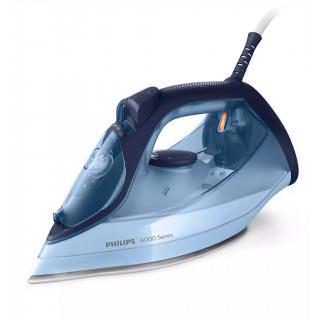 Fier de calcat Philips DST6008/20 2600W debit abur 40 g/min jet abur 220g CalcClean talpa ceramica rezervor XL 550ml Blue Philip