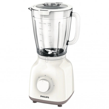 Blender Philips Daily Collection HR2105/00, 400 W, 1.25 l, 2 Viteze, Functie impuls, Alb Philips - 1