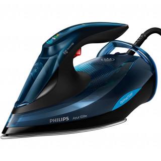 Fier de calcat Philips Azur Elite GC5034/20 3000W Talpa SteamGlide OptimalTEMP 65 g/min Jet de abur vertical Albastru/Negru Phil