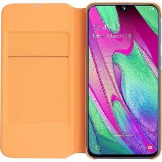 Husa tip Book Samsung Wallet Cover EF-WA405PWEGWW Galaxy A40 (2019) Alba Samsung - 3