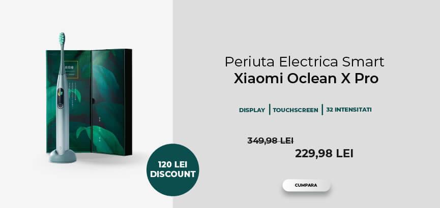 Periuta de dinti electrica Philips Sonicare ProtectiveClean HX6888/90 2 nivele de intensitate Senzor de presiune Alb Oclean X Pro
