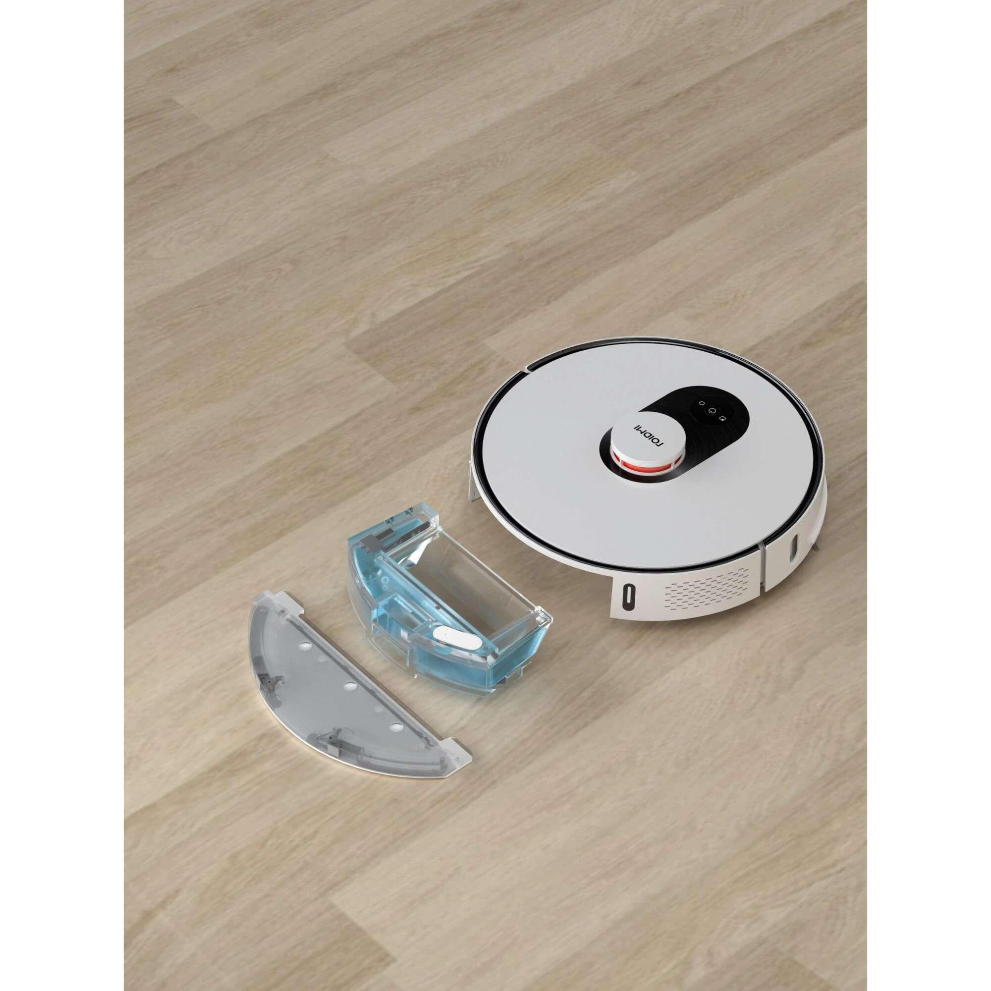 Robot de aspirare Roidmi Robot EVE Plus, Mop, 50W, 5200mAh, Putere de absorbtie 2700Pa, Colectare praf 3l, Alb 4