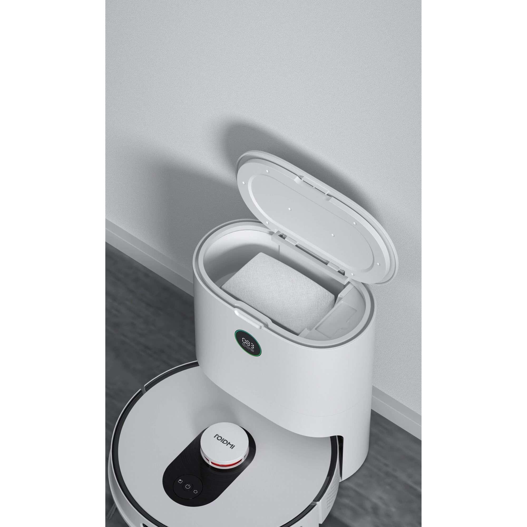Robot de aspirare Roidmi Robot EVE Plus, Mop, 50W, 5200mAh, Putere de absorbtie 2700Pa, Colectare praf 3l, Alb 5