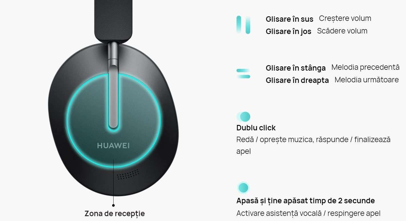 Casti Huawei FreeBuds Studio Roc-CU02, Black 16