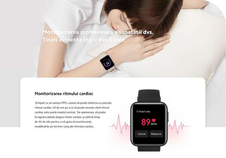 Smartwatch Xiaomi Mi Watch Lite BHR4357GL GPS TPU Strap Black 3