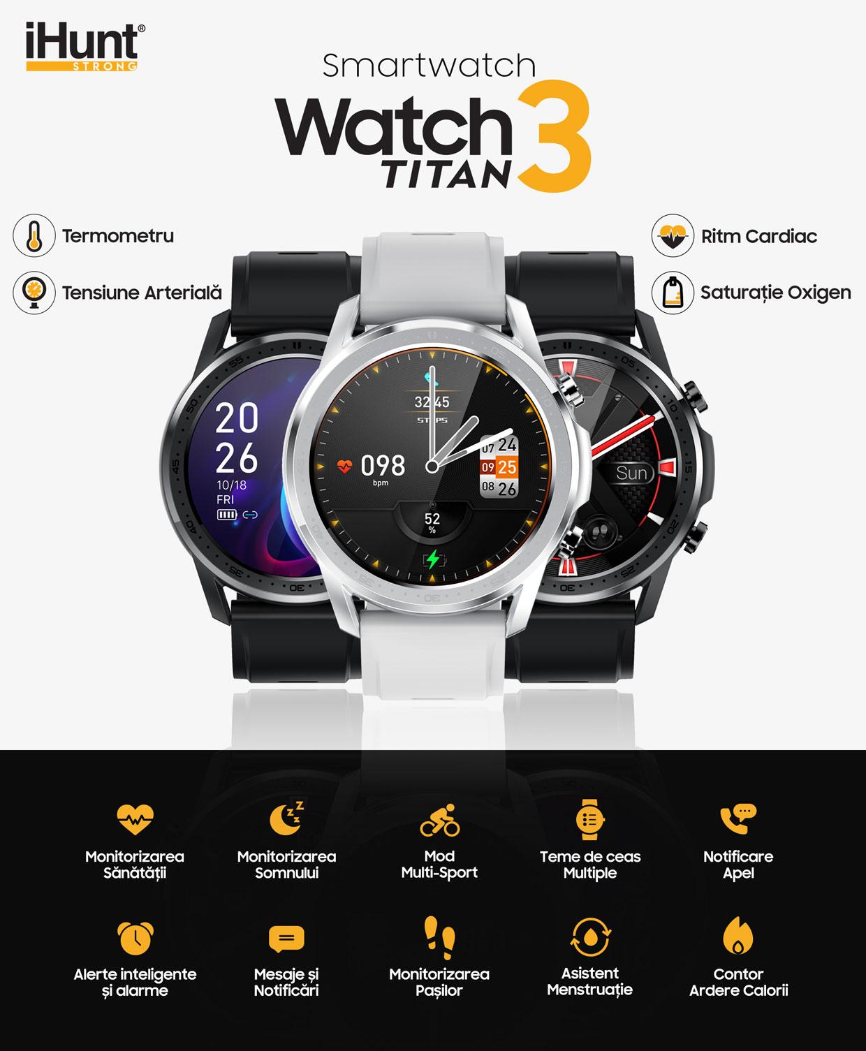 smartwatch Watch 3 Titan Black 1