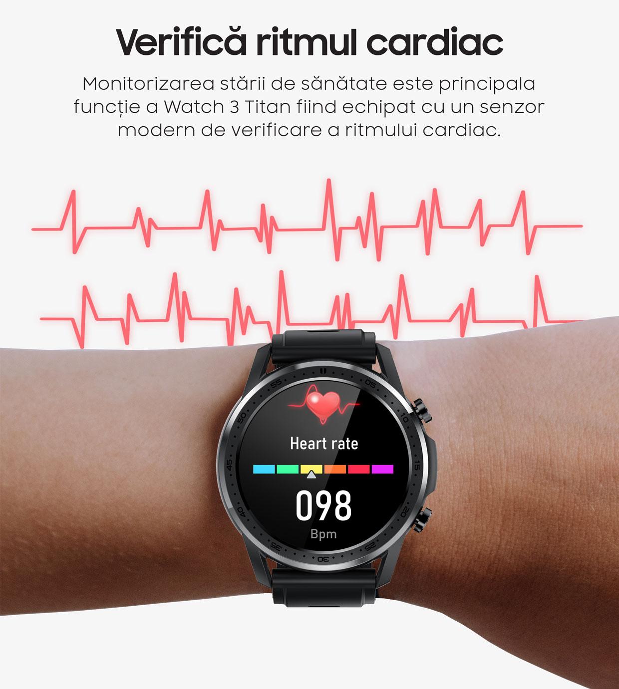 smartwatch Watch 3 Titan Black 4