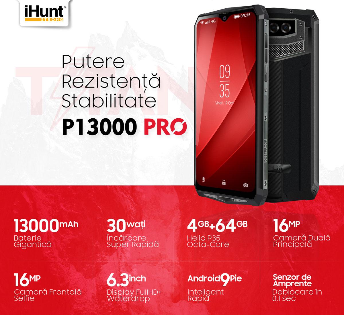 Telefon mobil iHunt Titan P13000 Pro 64GB 4G Dual Sim Black 1