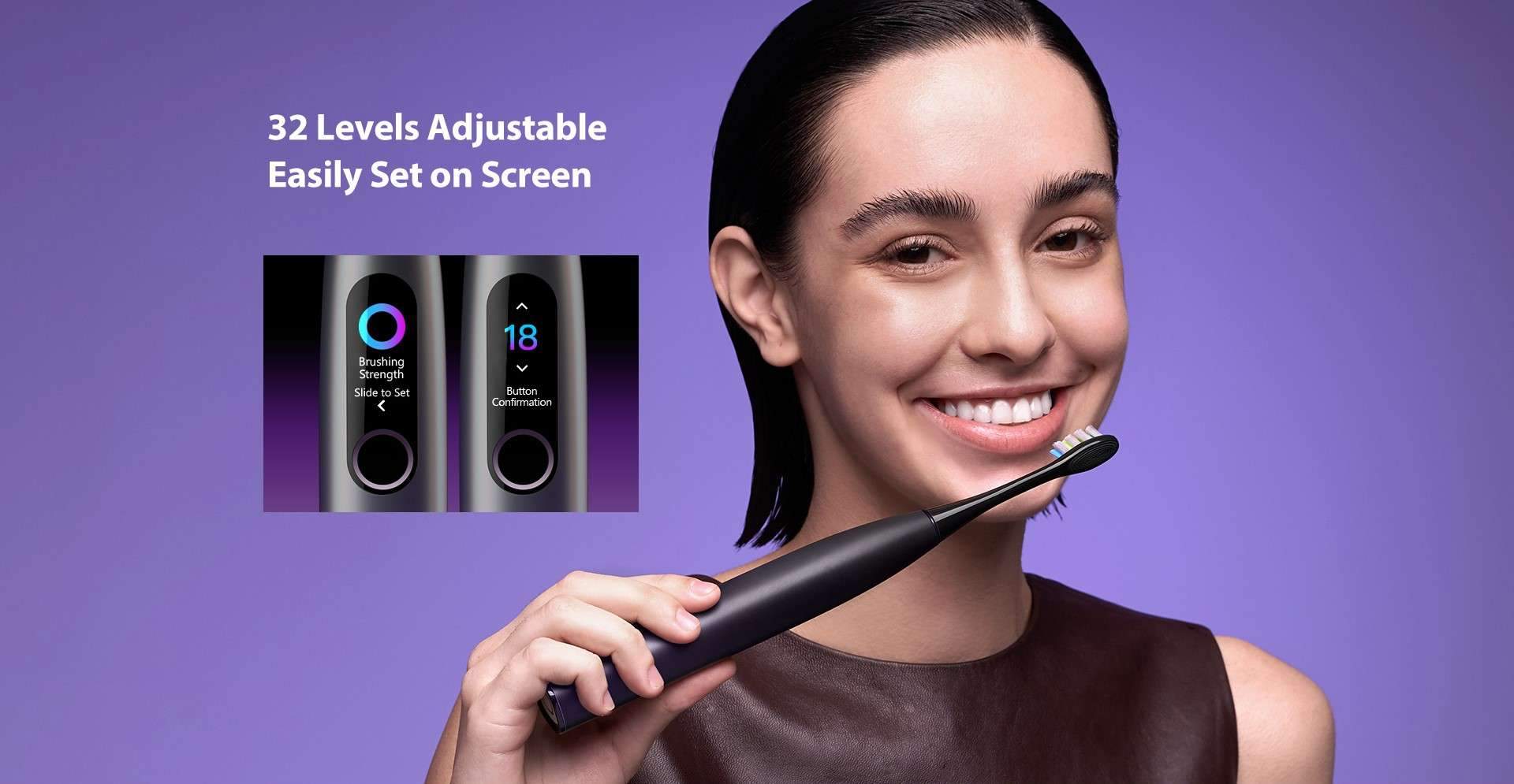 Periuta Electrica Smart Xiaomi Oclean X Pro, Display, Touchscreen, 32 Intensitati, pink3