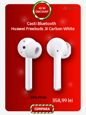 Casti Bluetooth Huawei Freebuds 3i Carbon White