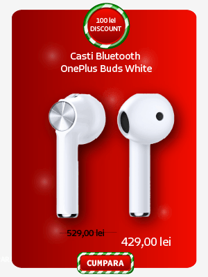 Casti Bluetooth OnePlus Buds White