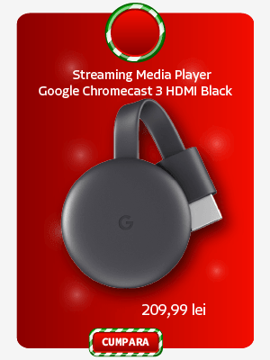 Streaming Media Player Google Chromecast 3 HDMI Black EU