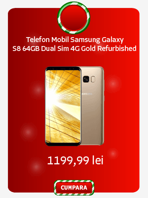 Telefon Mobil Samsung Galaxy S8 G950 64GB Dual Sim 4G Gold Refurbished