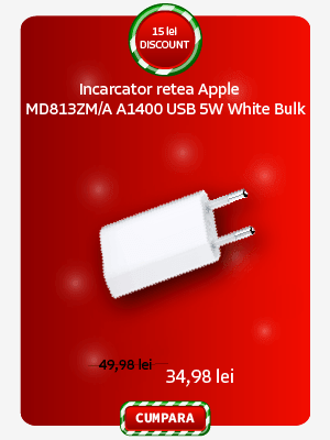 Incarcator retea Apple MD813ZM/A A1400 USB 5W White Bulk
