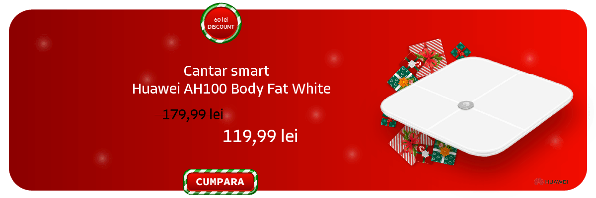 Cantar smart Huawei AH100 Body Fat White